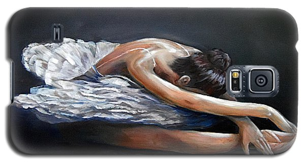 Galaxy S5 Case featuring the painting Dying Swan by Nancy Bradley