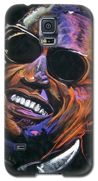 Galaxy S5 Case featuring the mixed media electric Ray Charles by Peter Suhocke