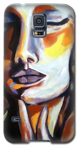 Galaxy S5 Case featuring the painting Emotion by Helena Wierzbicki
