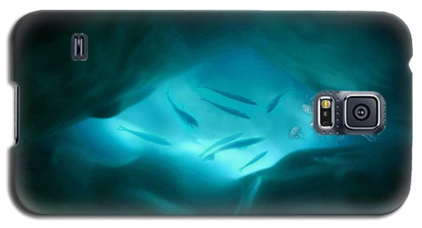 Galaxy S5 Case featuring the mixed media Ethereal Aquarium by Steed Edwards