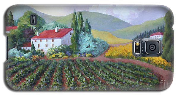 Galaxy S5 Case featuring the painting Fields Of Tuscany by Marta Styk