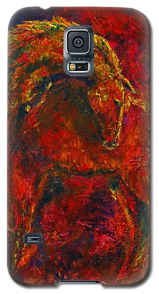 Galaxy S5 Case featuring the painting Fire Dance Horse II by Jennifer Godshalk
