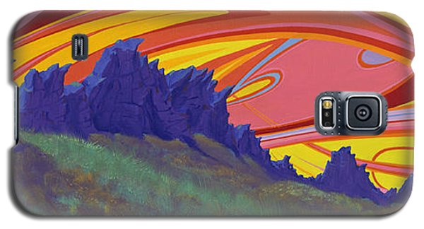 Fire Sky Over Devil's Backbone Galaxy S5 Case
