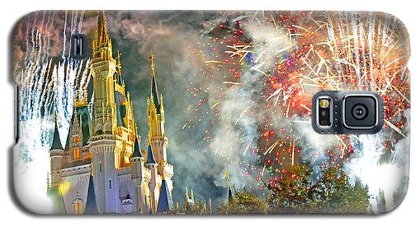 Fireworks Cinderellas Castle Walt Disney World Galaxy S5 Case by A Gurmankin