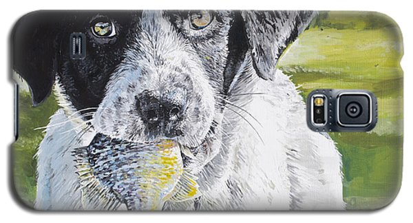 Galaxy S5 Case featuring the painting First Catch by Aaron Spong