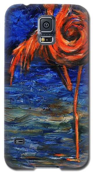 Galaxy S5 Case featuring the painting Flamingo by Xueling Zou