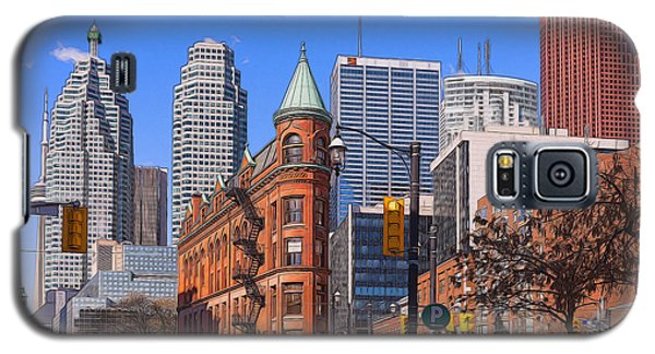 Flatiron Building In Toronto Galaxy S5 Case by Les Palenik