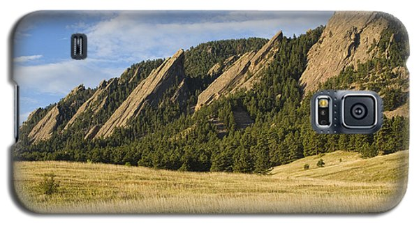 Flatirons With Golden Grass Boulder Colorado Galaxy S5 Case
