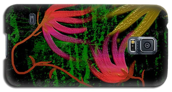 Galaxy S5 Case featuring the digital art Floral Fantasy by Asok Mukhopadhyay
