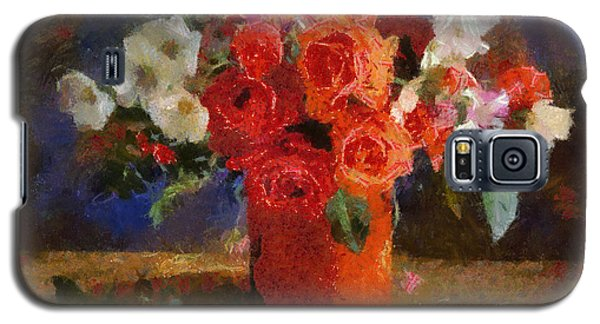 Galaxy S5 Case featuring the painting Flowers by Georgi Dimitrov