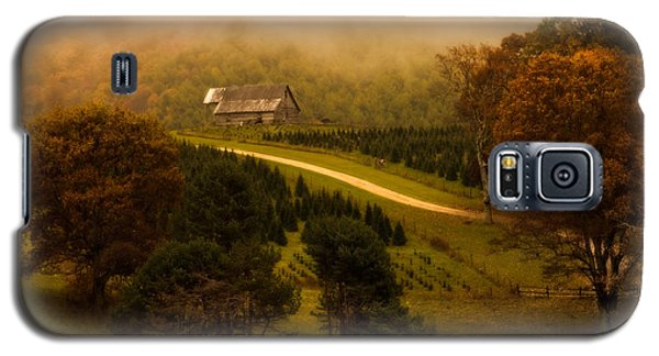 Foggy Autumn Country Road Galaxy S5 Case
