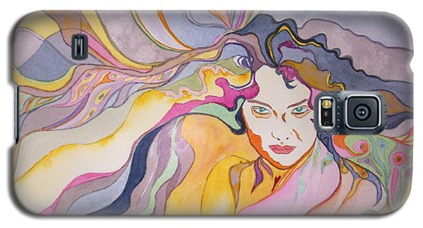 Galaxy S5 Case featuring the painting Forever by Diana Bursztein