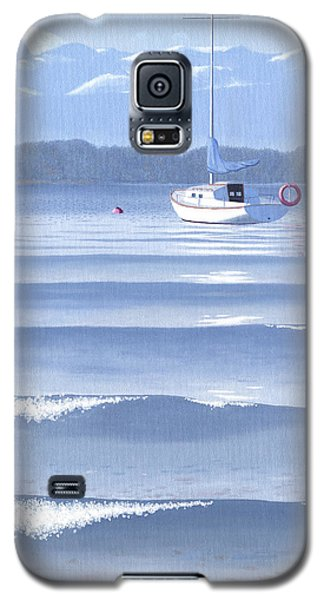Galaxy S5 Case featuring the painting From The Beach by Gary Giacomelli