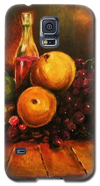 Galaxy S5 Case featuring the painting Fruit And Wine by Al Brown