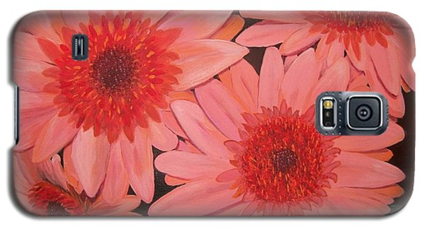 Galaxy S5 Case featuring the painting Gerber Daisies by Sharon Duguay