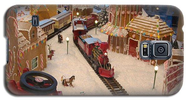 Gingerbread House Miniature Train Galaxy S5 Case by Ellen Tully