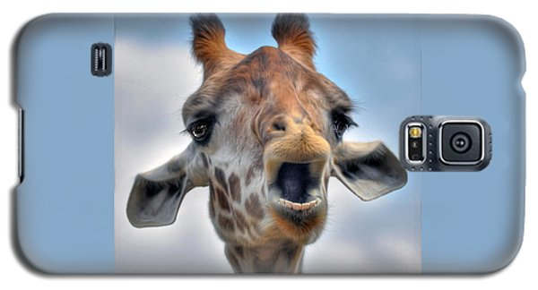 Galaxy S5 Case featuring the photograph Giraffe  by Savannah Gibbs