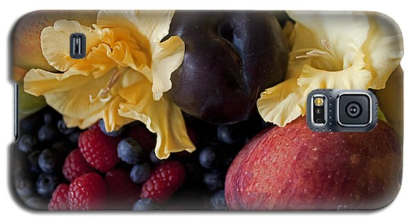 Galaxy S5 Case featuring the photograph Gladiolus And Fruits by Ivete Basso Photography