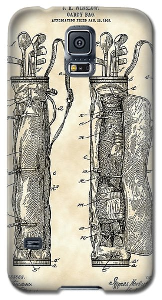Sport Galaxy S5 Case - Golf Bag Patent 1905 - Vintage by Stephen Younts