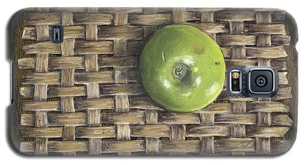 Green Apple On Basket Galaxy S5 Case by Claude Schneider