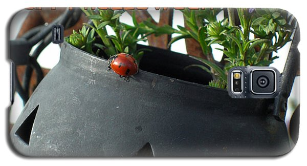 Galaxy S5 Case featuring the photograph Halloween Ladybug by Heidi Manly