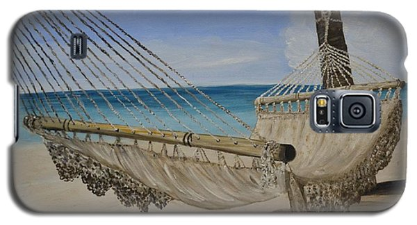 Galaxy S5 Case featuring the painting Hammock by Debbie Baker