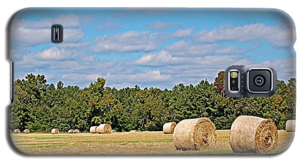 Galaxy S5 Case featuring the photograph Hay Field by Linda Brown