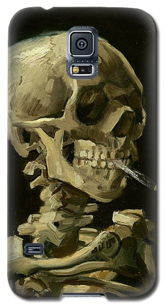 Head Of A Skeleton With A Burning Cigarette Galaxy S5 Case