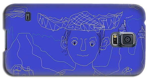Galaxy S5 Case featuring the painting Hillbilly Boy by Don Koester
