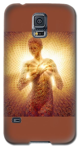 Galaxy S5 Case featuring the painting I Am Love by Robby Donaghey