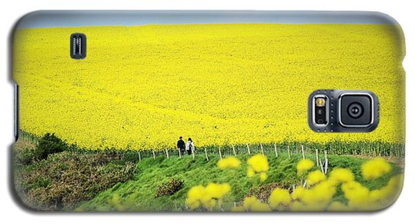 Rapeseed Field... Love Story Galaxy S5 Case by Katy Mei