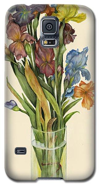 irises in Vase Galaxy S5 Case by Nan Wright