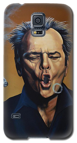 Jack Nicholson Painting Galaxy S5 Case by Paul Meijering