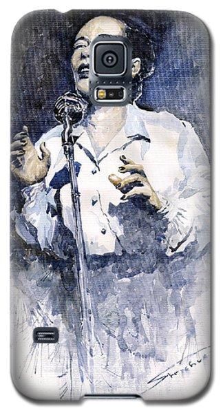 Portret Galaxy S5 Case - Jazz Billie Holiday Lady Sings The Blues  by Yuriy Shevchuk
