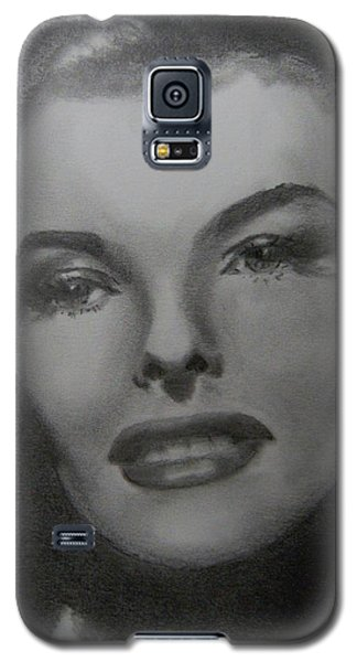 Galaxy S5 Case featuring the drawing Kathryn Hepburn by Lori Ippolito