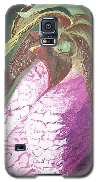 Galaxy S5 Case featuring the painting Lady Slipper Orchid by Sharon Duguay