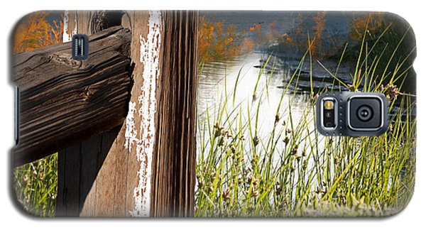 Landscape With Fence Pole Galaxy S5 Case by Gunter Nezhoda