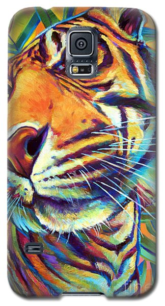 Galaxy S5 Case featuring the painting Le Tigre by Robert Phelps