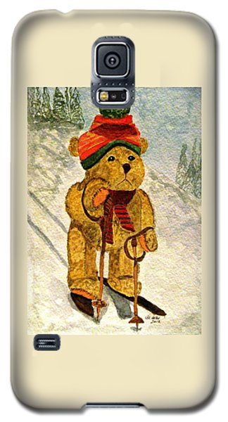 Learning To Ski Galaxy S5 Case by Angela Davies