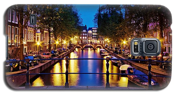 Leidsegracht Canal At Night / Amsterdam Galaxy S5 Case