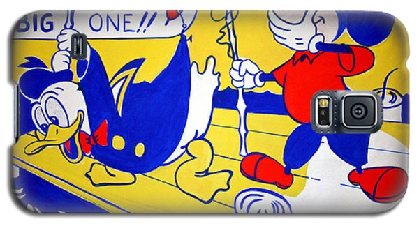 Galaxy S5 Case featuring the photograph Lichtenstein's Look Mickey by Cora Wandel