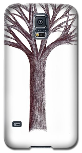 Galaxy S5 Case featuring the drawing Second-generation....tree Without Roots by Giuseppe Epifani
