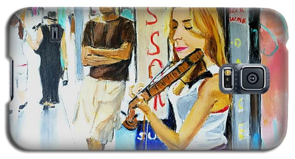 Galaxy S5 Case featuring the painting Lone Audience by Judy Kay