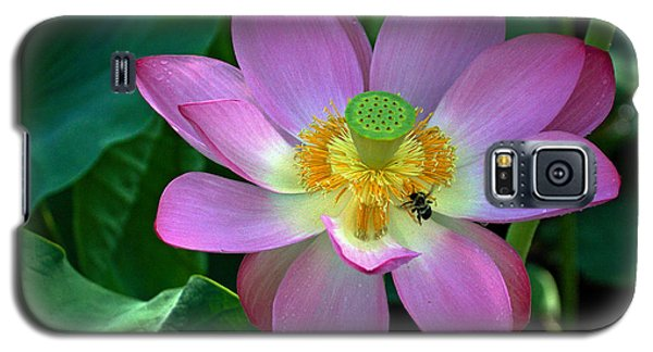 Galaxy S5 Case featuring the photograph Lotus Flower by Jerry Gammon