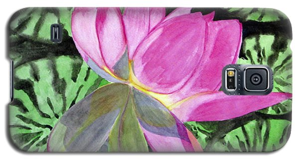 Galaxy S5 Case featuring the painting Lovely Lily by Debi Singer