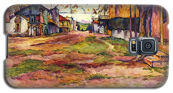 Main Street Of Early Spanish California Days San Juan Bautista Rowena M Abdy Early California Artist Galaxy S5 Case
