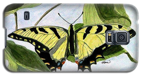 Galaxy S5 Case featuring the painting Male Eastern Tiger Swallowtail by Angela Davies