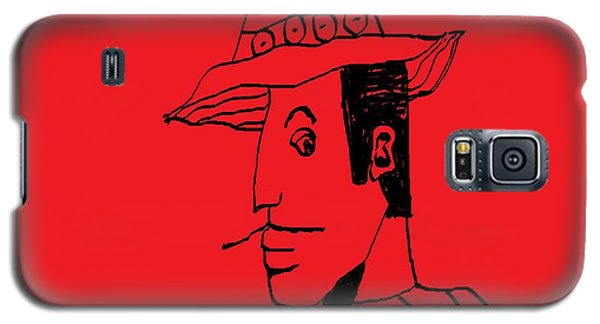 Galaxy S5 Case featuring the drawing Man From Buenos Aires by Don Koester