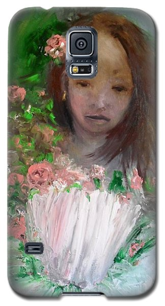 Galaxy S5 Case featuring the painting Mary Rosa by Laurie L