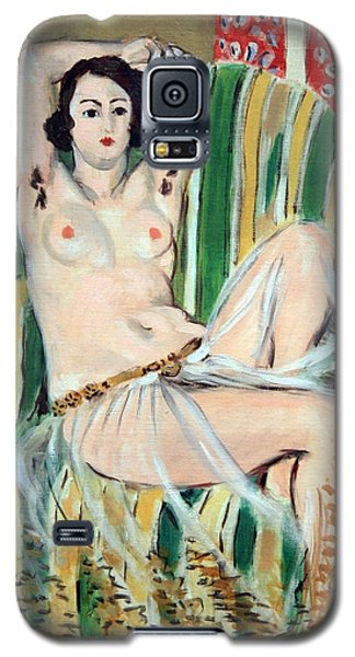Matisse's Odalisque Seated With Arms Raised In Green Striped Chair Galaxy S5 Case